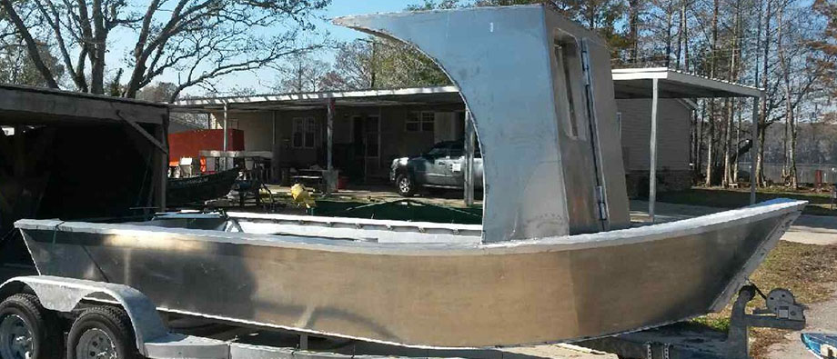 Custom aluminum skiffs Louisiana